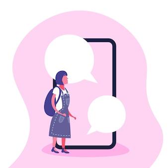 Ilustracja dziewczyna z gadka bąblem