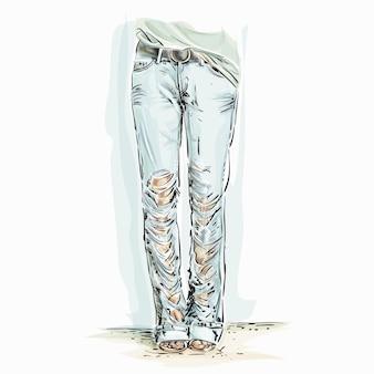 Ilustracja dżinsów
