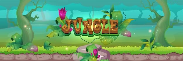 Ilustracja dżungli