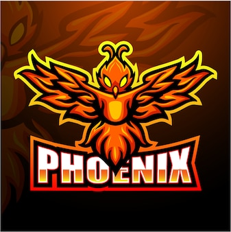 Ilustracja e-sport maskotka phoenix