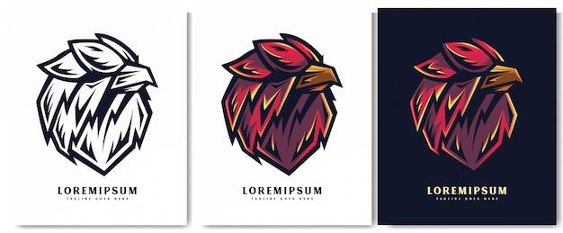 Ilustracja eagle dla mediów drukowanych i cyfrowych