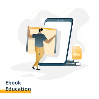 Ilustracja edukacji ebook