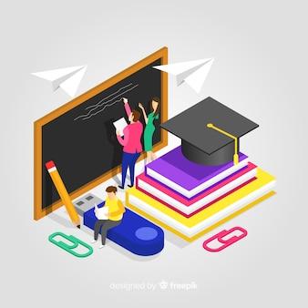 Ilustracja edukacji izometrycznej