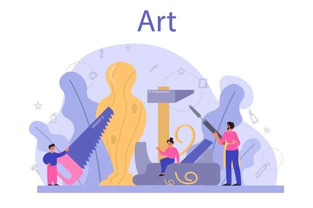 Ilustracja edukacji szkoły artystycznej