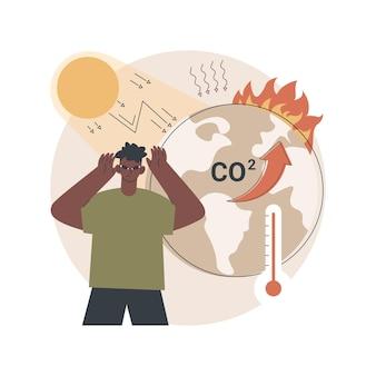 Ilustracja efektu cieplarnianego