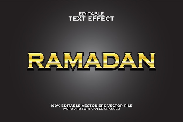 Ilustracja efektu tekstu ramadan