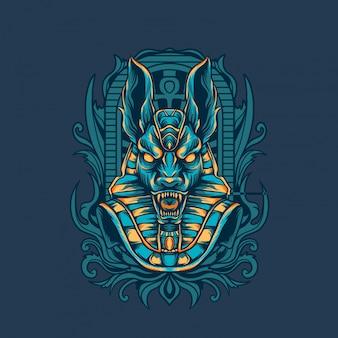 Ilustracja egipska anubisa