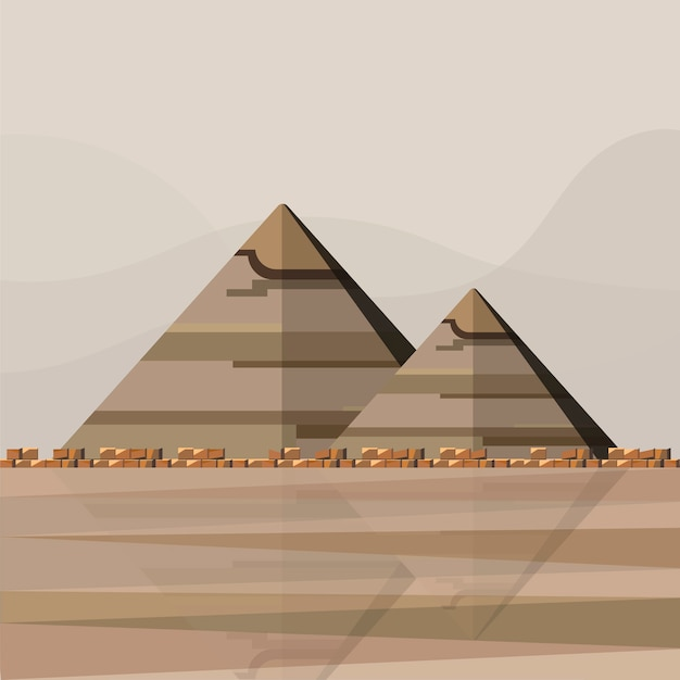 Ilustracja egipskich piramid