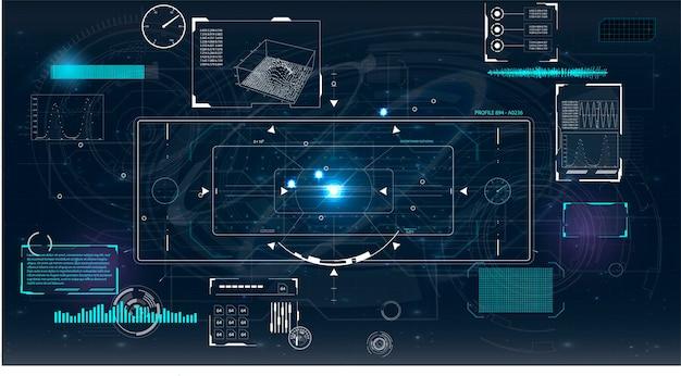 Ilustracja ekranu radaru do projektowania