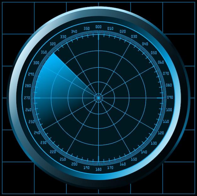 Ilustracja ekranu radaru