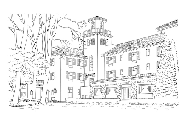 Ilustracja eleganckiego domu