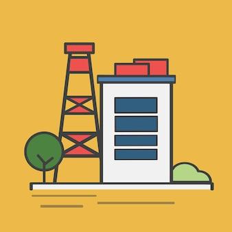 Ilustracja elektrowni