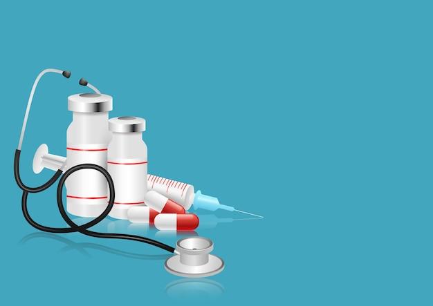 Ilustracja elementów i obiektów medycznych