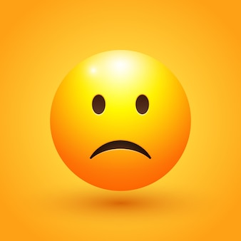 Ilustracja emoji smutnej twarzy