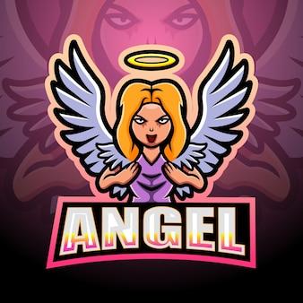 Ilustracja esport maskotka anioła