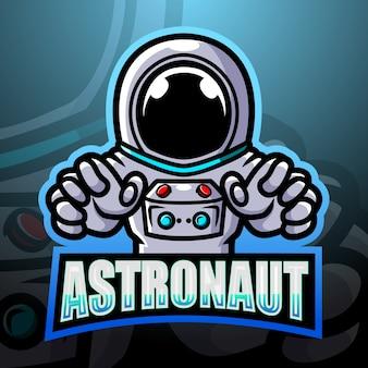 Ilustracja esport maskotka astronauta