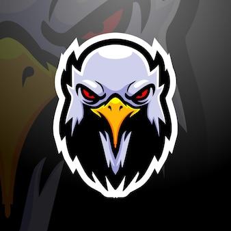 Ilustracja esport maskotka głowa orła