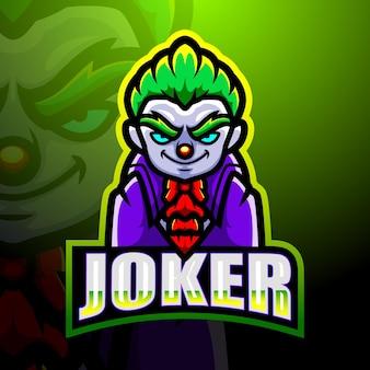 Ilustracja Esport Maskotka Joker Premium Wektorów