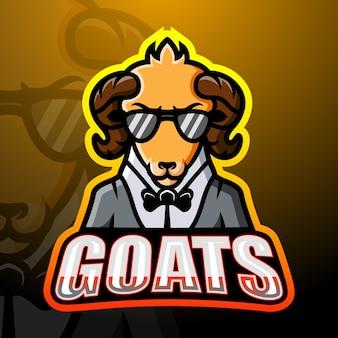 Ilustracja esport maskotka koza