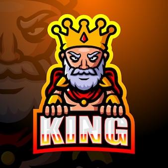 Ilustracja esport maskotka króla