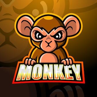 Ilustracja esport maskotka małpa