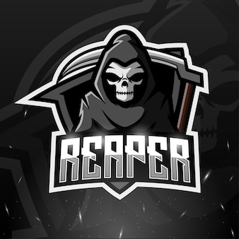 Ilustracja esport maskotka reaper