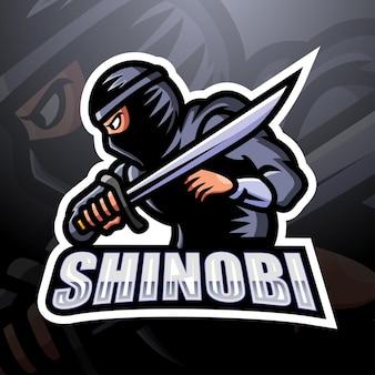 Ilustracja esport maskotka shinobi