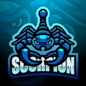 Ilustracja esport maskotka skorpiona
