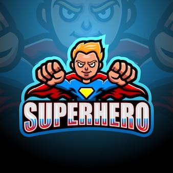 Ilustracja esport maskotka superbohatera