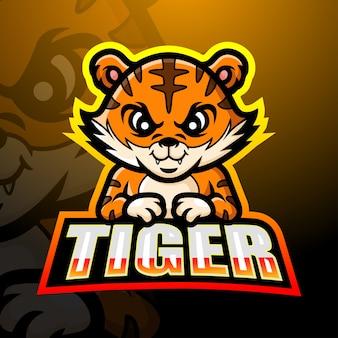 Ilustracja esport maskotka tygrysa
