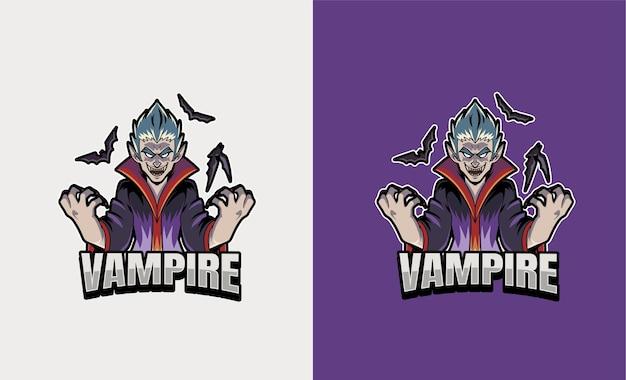 Ilustracja esport maskotka wampira