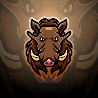 Ilustracja esport maskotka warthog