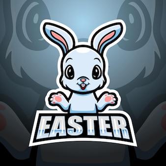 Ilustracja esport maskotka wielkanocny króliczek