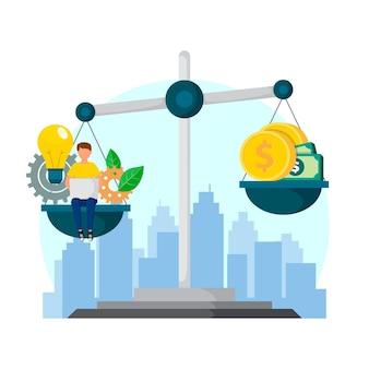 Ilustracja etyki biznesu