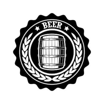 Ilustracja etykiety rocznika piwa