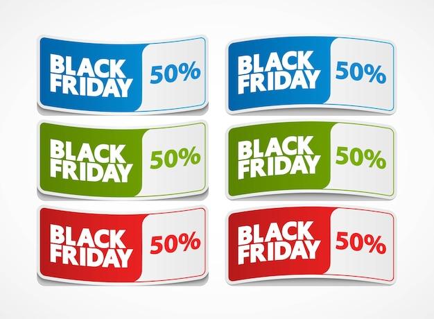 Ilustracja etykiety sprzedaży w czarny piątek