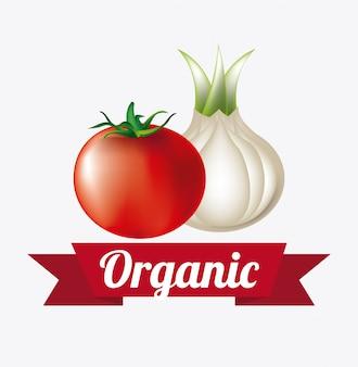 Ilustracja etykiety żywności ekologicznej