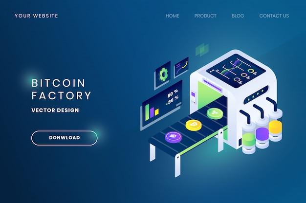 Ilustracja fabryczna bitcoin