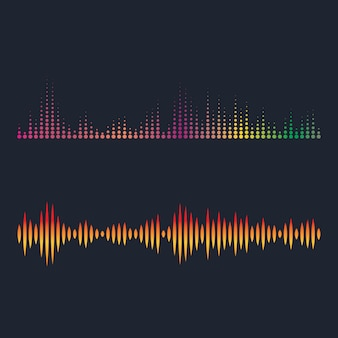 Ilustracja fal dźwiękowych