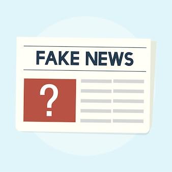 Ilustracja fałszywy koncepcja wiadomości