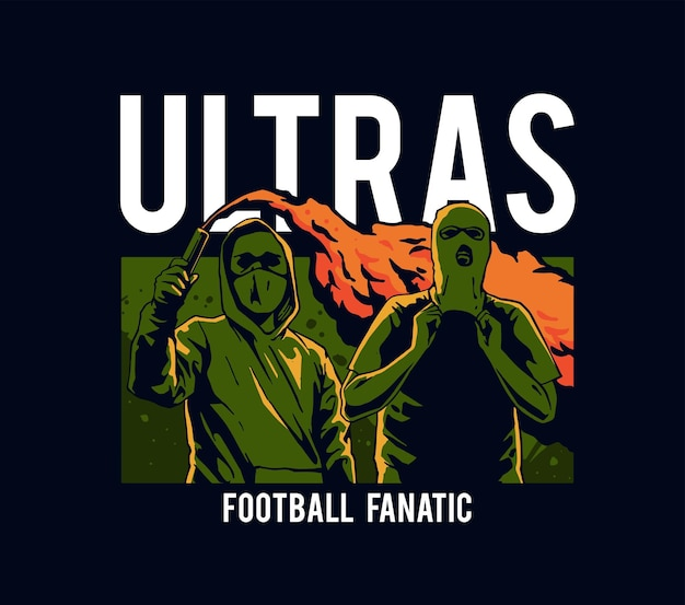 Ilustracja fanatyków piłki nożnej