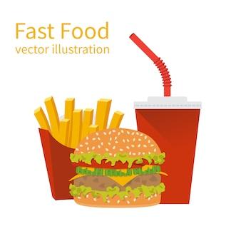 Ilustracja fast foodów