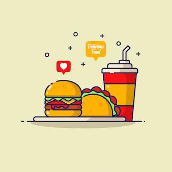 Ilustracja fastfood