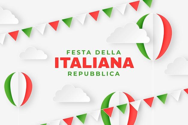 Ilustracja festa della repubblica w stylu papierowym
