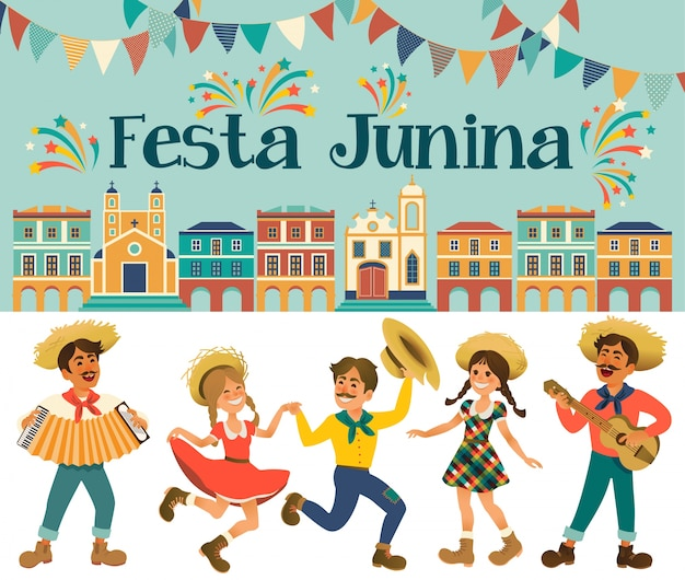 Ilustracja festa junina.