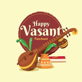 Ilustracja festiwalu vasant panchami