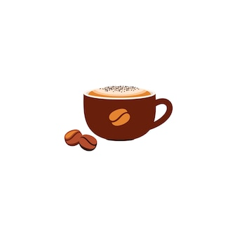 Ilustracja filiżanki kawy na białym tle