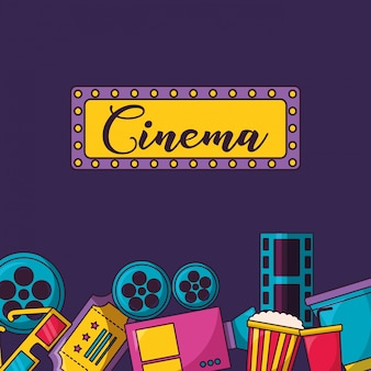 Ilustracja filmu kinowego