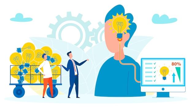 Ilustracja firm wykorzystujących ludzi do pomysłów