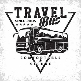 Ilustracja firmy podróżującej autobusem